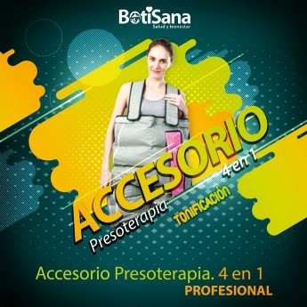 ACCESORIO 4 EN 1 PIERNAS,GLUTEOS,ABDOMEN,LUMBARES PARA PRESOTERAPIA PROFESIONAL MASSAGE ENERGY