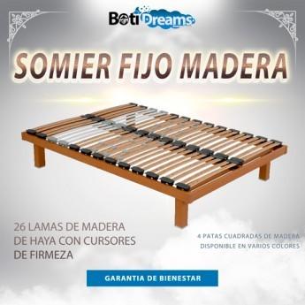 SOMIER FIJO MADERA